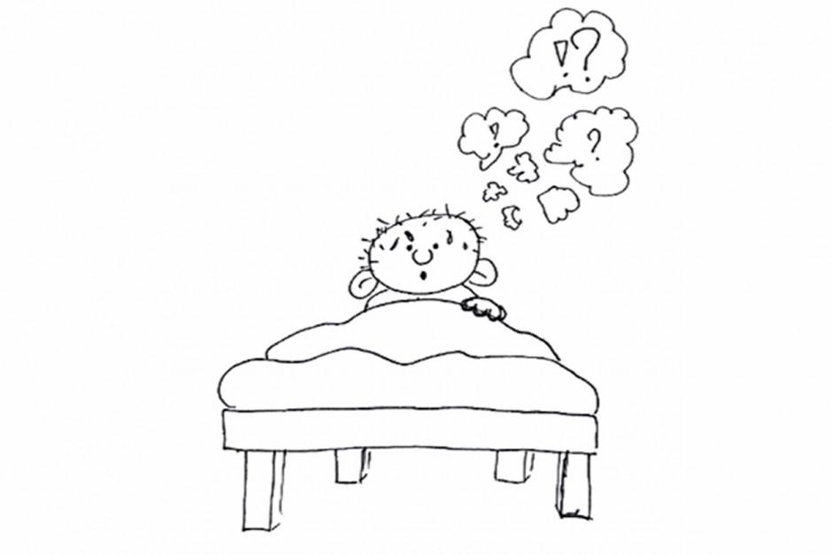 Afbeeldingsresultaat voor piekeren in bed