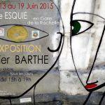 Affiche Expo Xavier Barthe Galerie Esquié La Rochelle