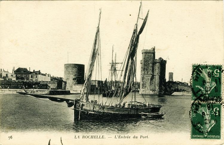 Tour de la chaîne, Tour Saint Nicolas La Rochelle, l'entrée du port