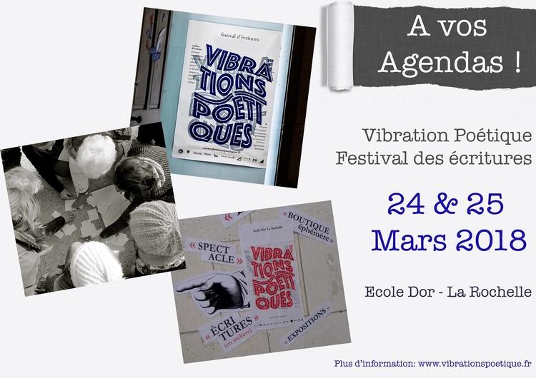 Vibrations poétiques A vos agendas