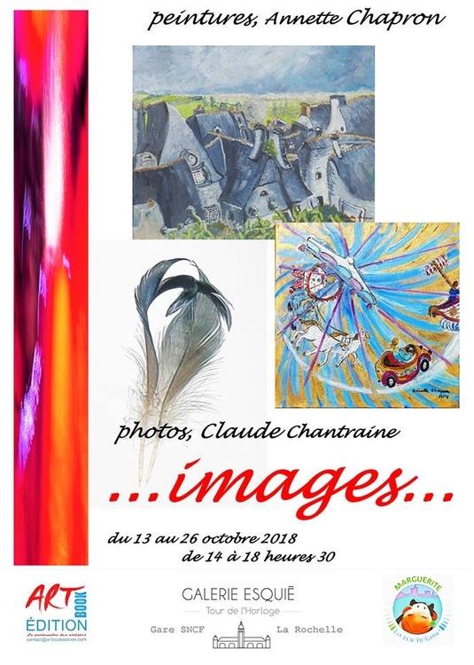 Art contemporain en gare de La Rochelle Annette Chapron et Claude Chantraine du 12 au 26 octobre 2018