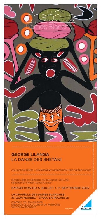 Affiche Exposition George Lilanga Chapelle des Dames Blanches La Rochelle