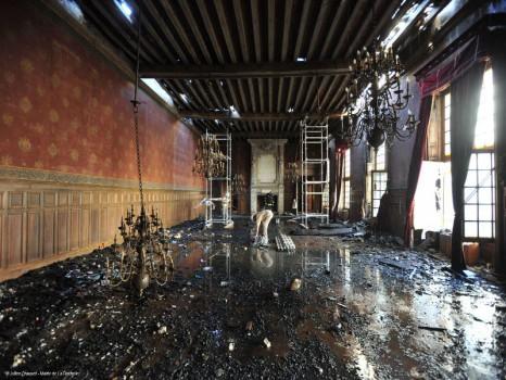 Incendie de l'Hotel de Ville de La Rochelle © Julien Chauvet