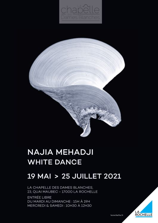 Najia Mehadji - Affiche expo chapelle des Dames blanches