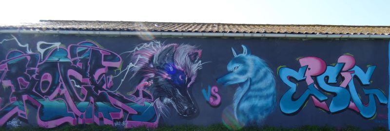 IRON VS EPSIG La Cuve - Sur les murs de La Rochelle La Pallice mars 2021