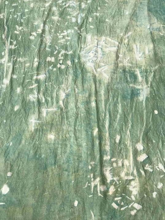 Calypso Debrot détail de cyanotype