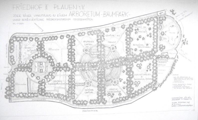 Ideenskizze Arboretum Plauen