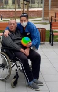 Romy, vom Soialen dienst des ASPIDA Pflegecampus Plauen und Steffen Marquardt