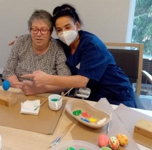 Romy, vom Soialen dienst des ASPIDA Pflegecampus Plauen und Sabine