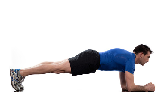 reduce your body fat with plank