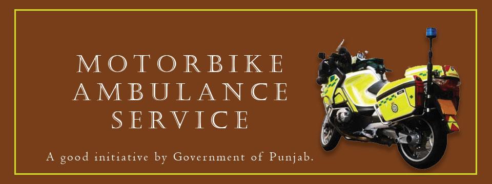motorbike ambulance service