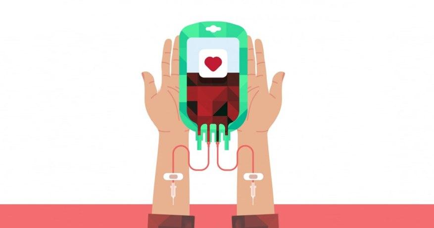 transferring blood