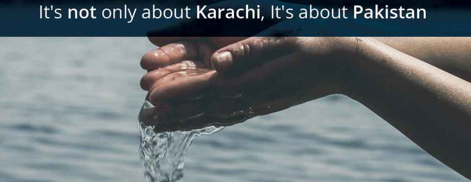 polluted water in Karachi