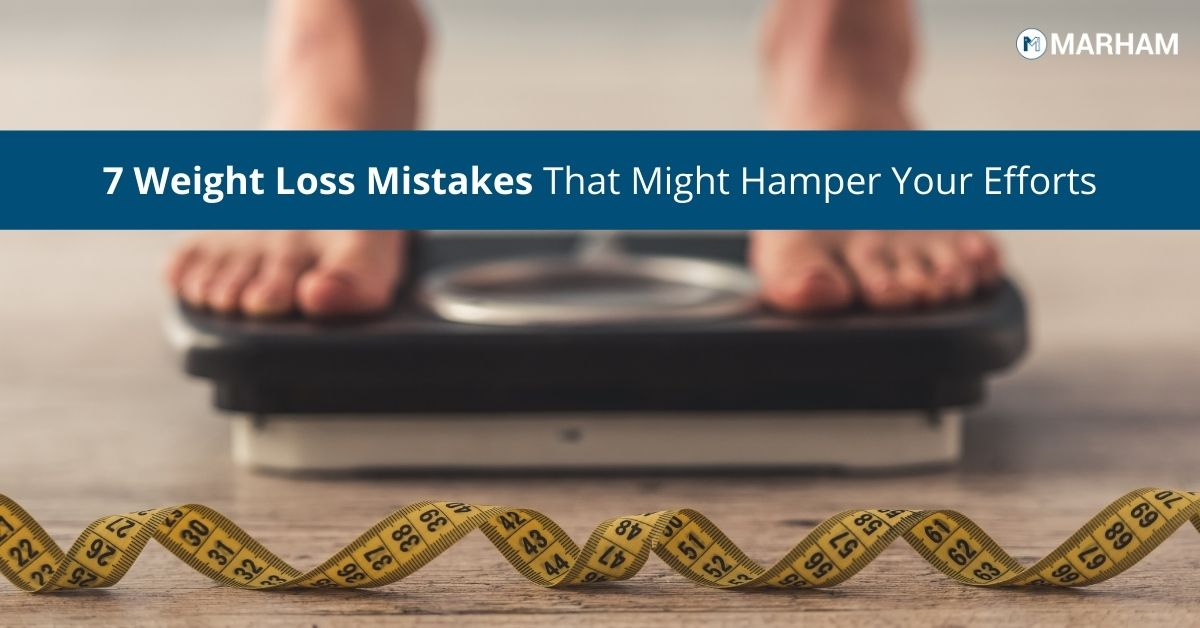 Weight loss mistakes that prevent you from losing weight.
