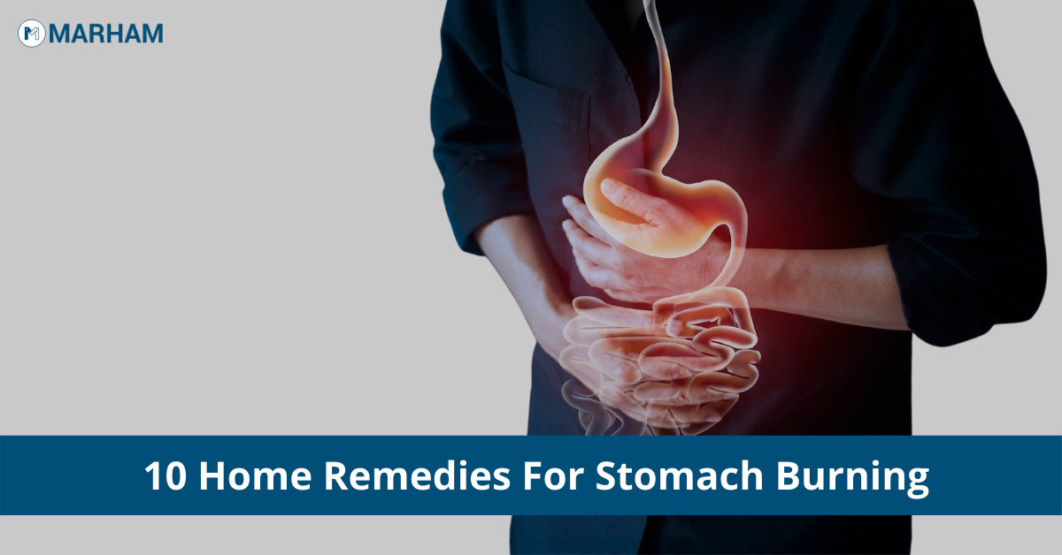 stomach burning home remedies