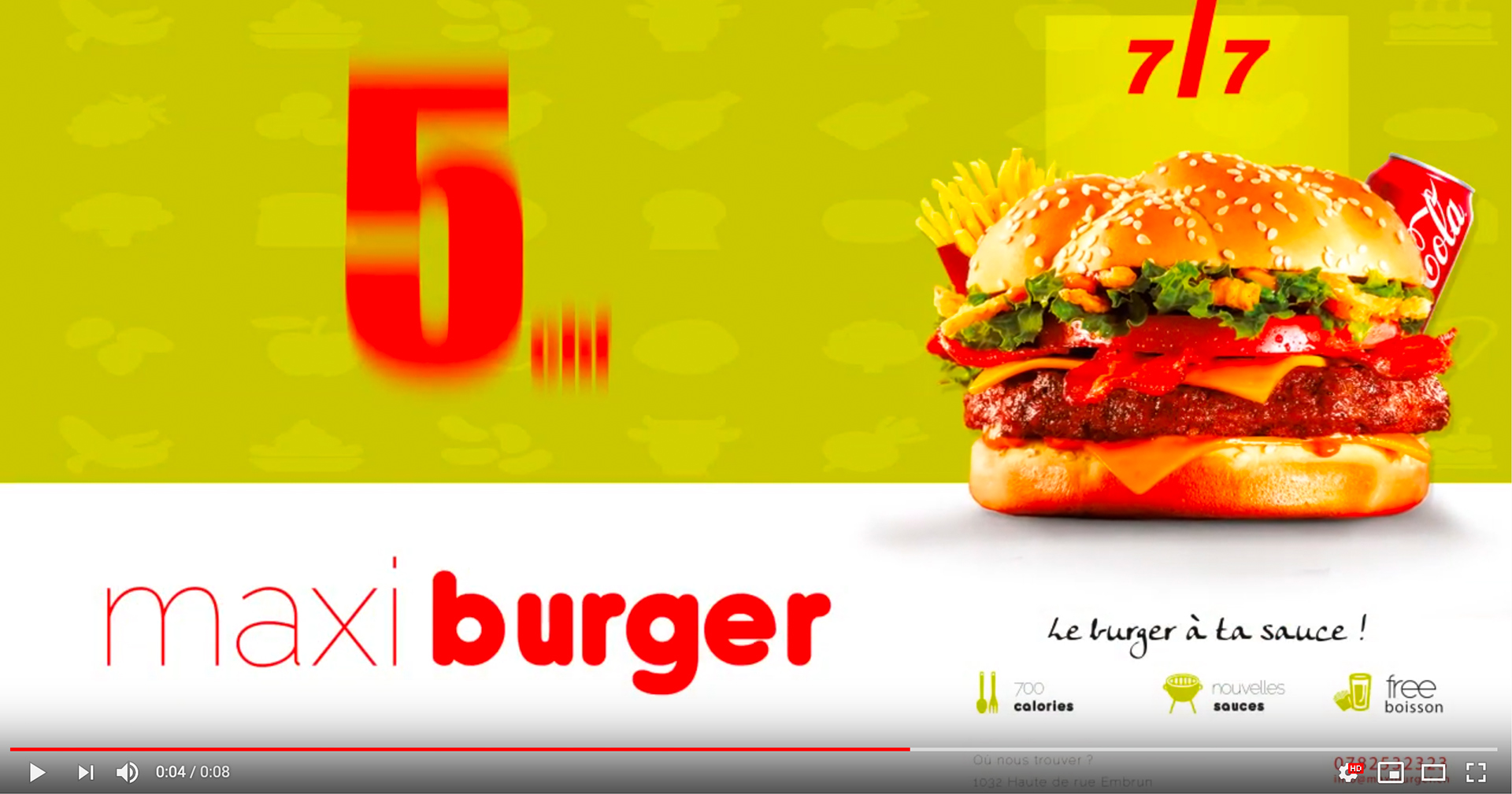 Vidéo Marketing – Burger