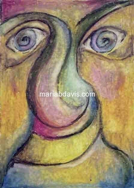 Oil Pastel Maria B Davis