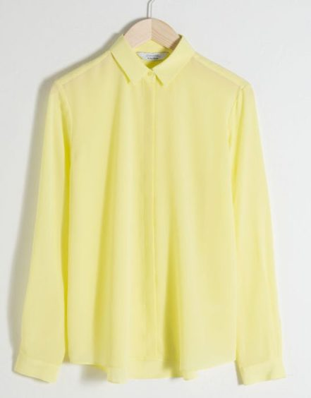 gula kläder och accessoarer blus