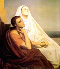 Sant'Agostino e sua madre santa Monica in estasi
