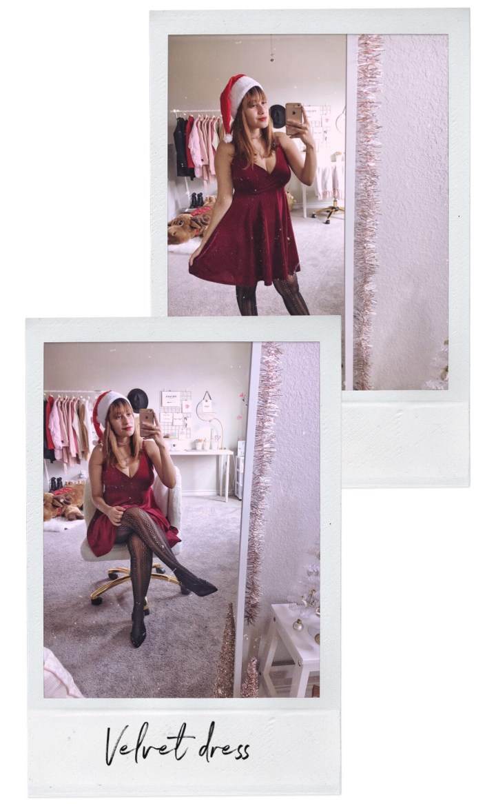 Look de fim de ano_Velvet dress_Forever 21