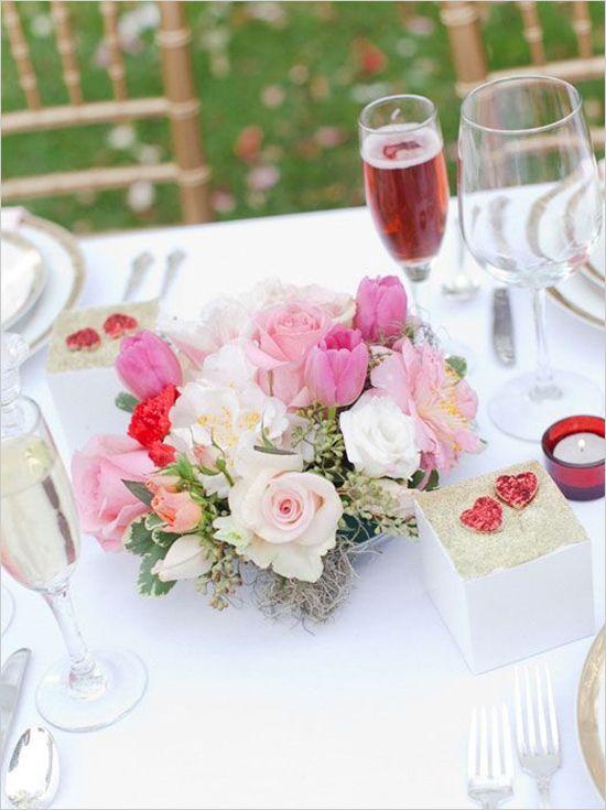 centres de tables mariage st valentin 1