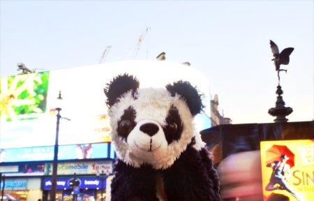 Benji at Piccadilly Circus