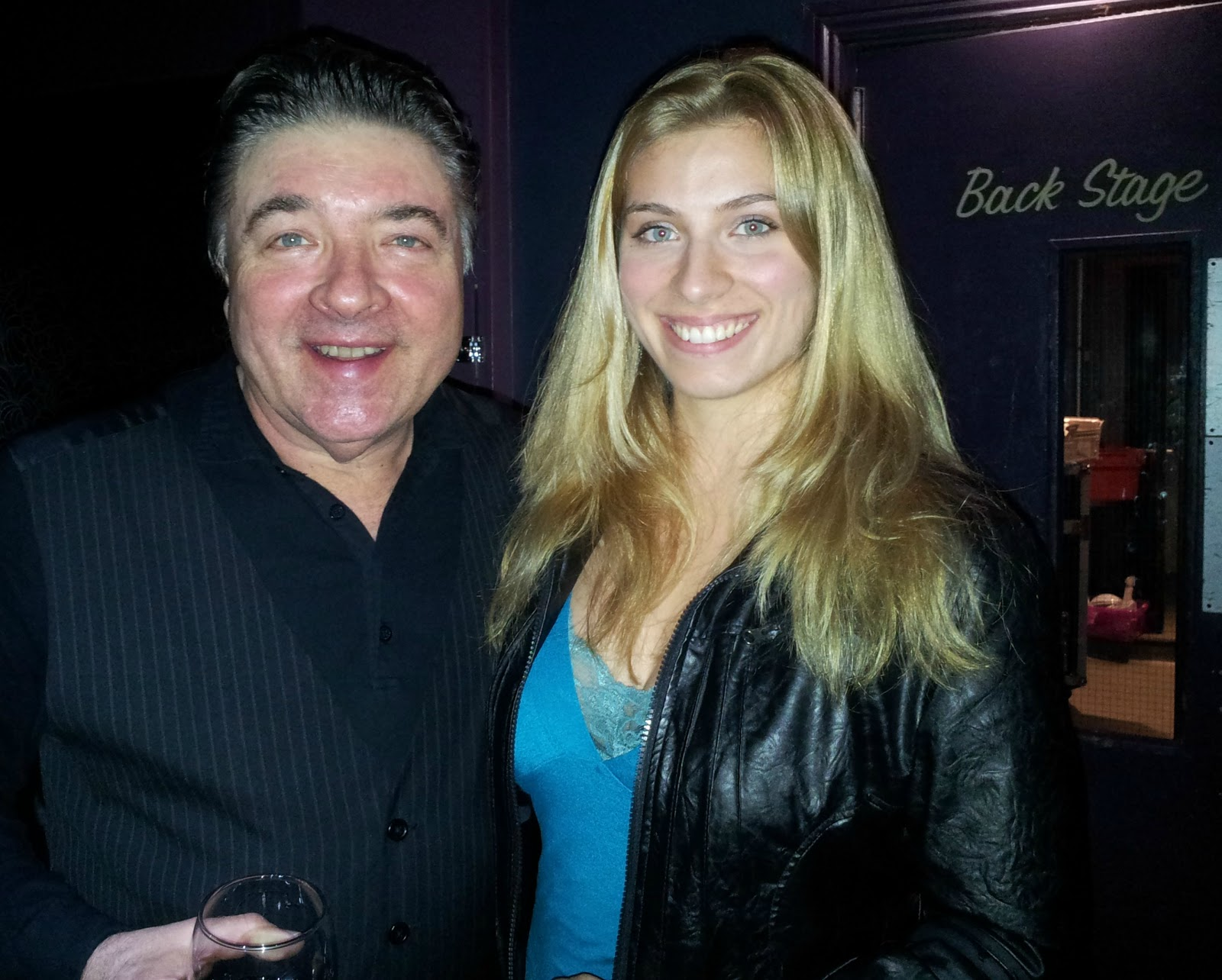 Mariah June at Ian Hunter concert in 2012 at the Concorde 2 in Brighton, UK with Steve Holley