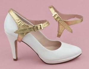 maintenir ses chaussures avec des brides amovibles or