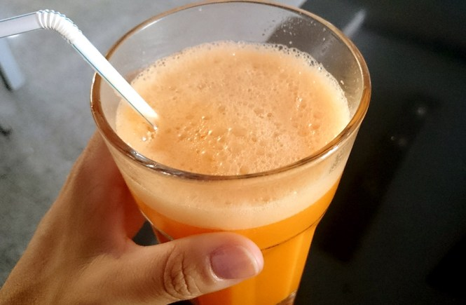 Zumo de zanahoria, acerola y naranja