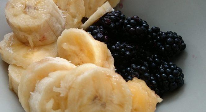 Batido de moras y plátano