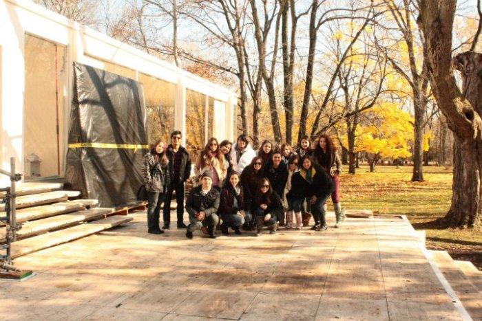 Visitando a Mies Van Der Rohe. Casa Farnswotrh. Chicago.