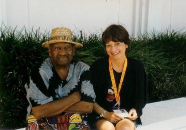 Aqui en un rato para conversar durante el MIDEM en Miami con el gran compositor puertorriqueño Don Tite Curet Alonso.
