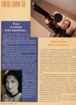 Artículo de la Revista Caras, Puerto Rico (julio 1994)