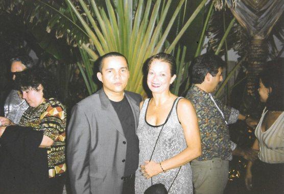 El cantante y compositor Donato Poveda y María Juliana Villafañe