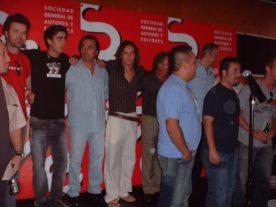 Grupo de nominados al Premio SGAE
