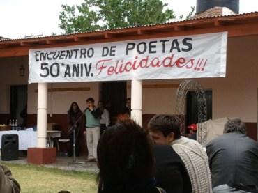 Miguel Ángel Ortíz se dirige a los poetas en San Javier
