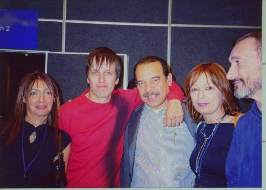 Adriana Manzanares, Xavier Velasco, Enrique Córdoba, Maria Juliana y Arturo Pérez Reverte