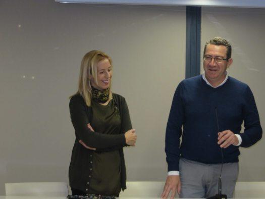 La edil de Cultura Ana Pellicer y el Alcalde de Benidorm Tony Pérez.
