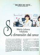 Entrevista en la revista Imagen a María Juliana, 1992.
