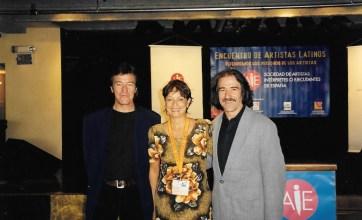 Luis Mendo, María Juliana y Luis Cobos