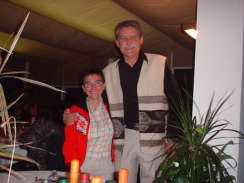 María José Mielgo (editora de la Revista Alborada) y Pepe (esposo de Cristina Ramallo) disfrutan de la velada
