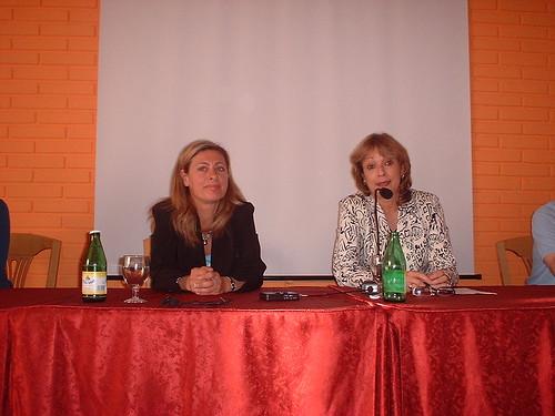 Célia Vázquez, Presidenta del Encuentro y María Juliana
