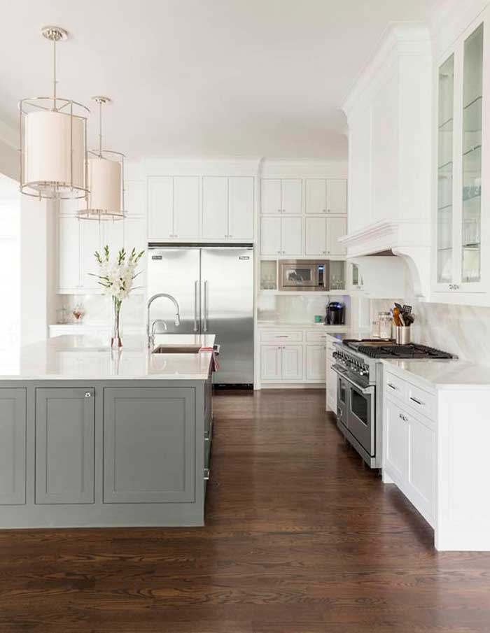Contrasting Kitchen Island Get Your Colour Right