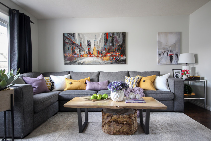 How To Bring A Charcoal Sofa Life Before And After Part 40