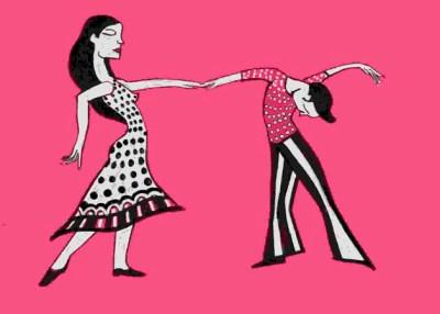 Pareja Bailando En Rosa - 2001 (100€)