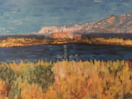 mostra personale di DONATELLA FORINO olio su tela 80x60 LAGO DEL SALE A SALINA
