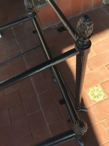 Tavolini in ottone riverniciati con antiruggine grigio antracite micaceo