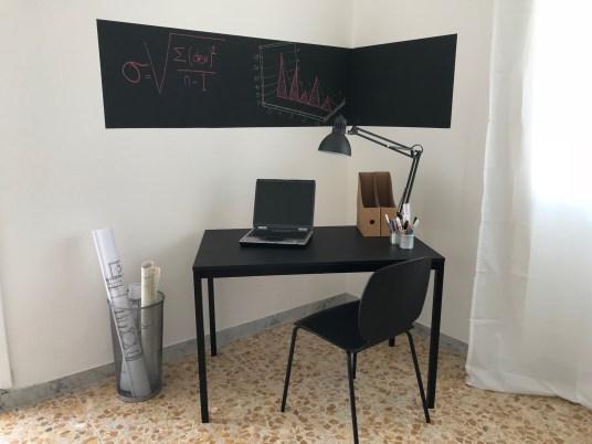 CAMERA SINGOLA zona studio vernice lavagna per la parete