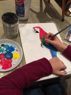Tempera su carta corso pittura bambini S.10 anni