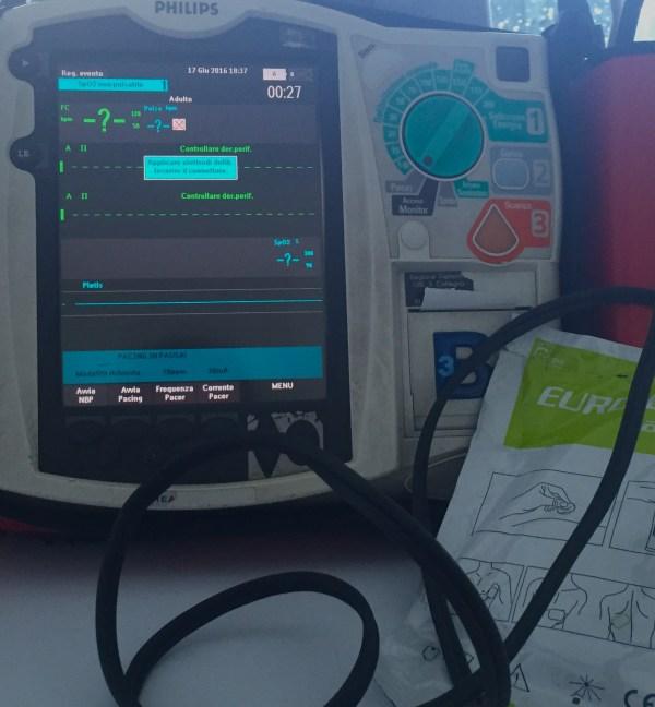 pacing transcutaneo heart start MRX